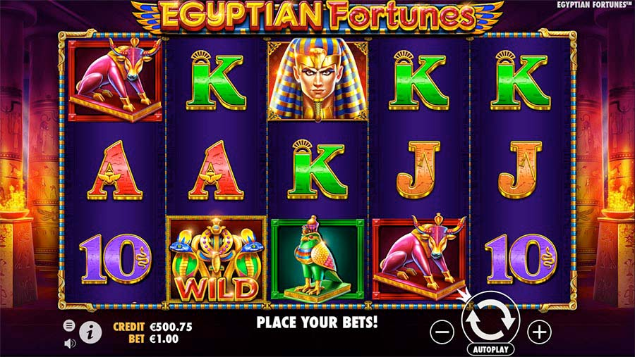 Screenshot of the Egyptian Fortunes slot by Pragmatic Play
