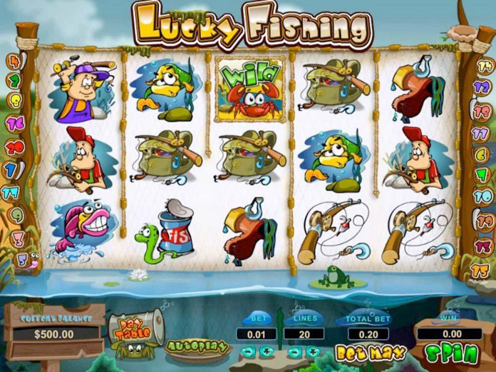 Screenshot of the Lucky Fishing slot by Pragmatic Play