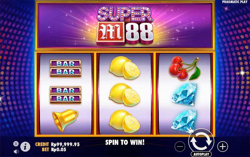 Screenshot of the Super M88 slot by Pragmatic Play